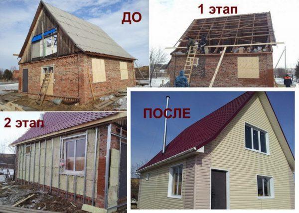 Этапы капитального ремонта крыши