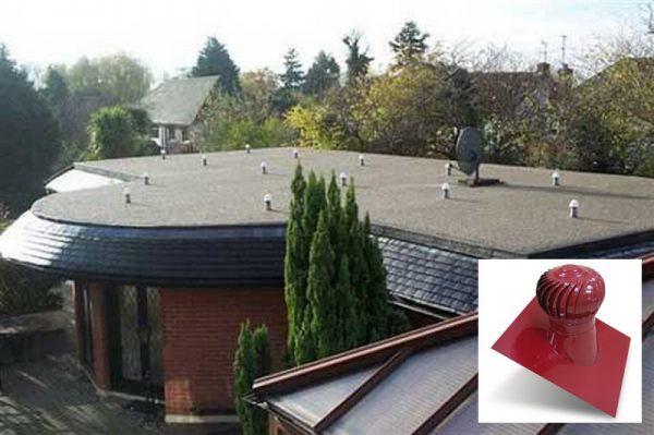 Крыша с вентиляционными турбинами