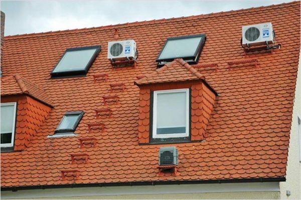 Крыша с мансардными окнами