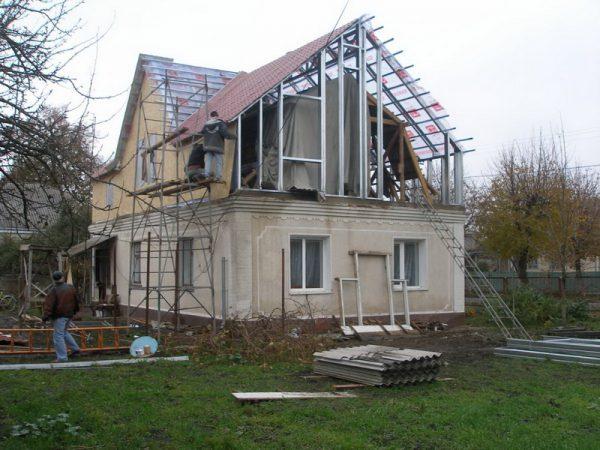 Надстройка этажей с использованием металлоконструкций