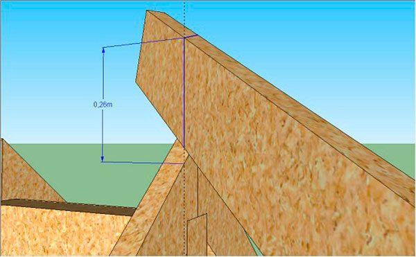 Измерение расстояния на верхнем запиле