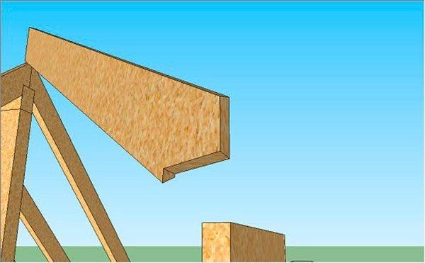 Изготовление углового стропила