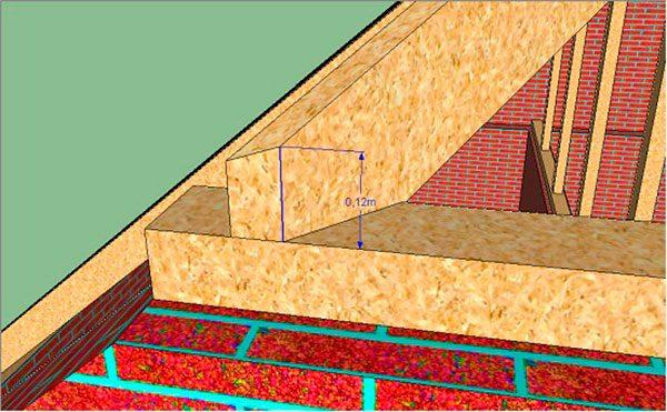 Снятие размеров для центрального углового стропила