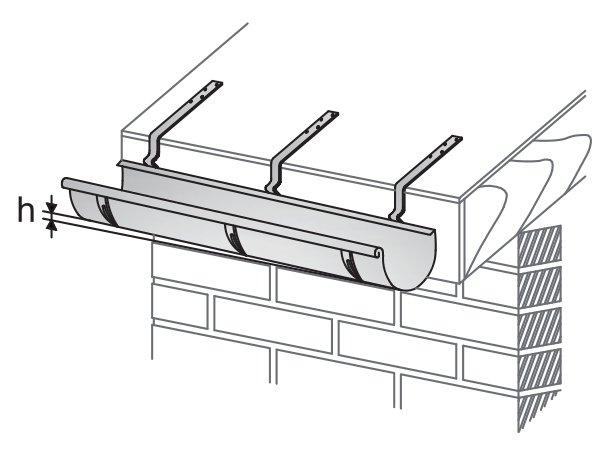 Схема установки отлива на крышу