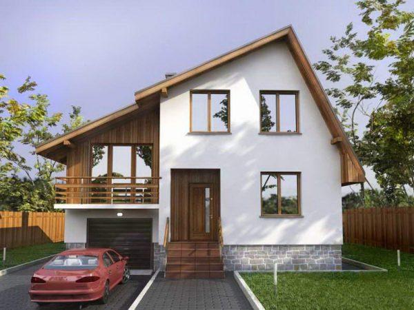 Пример асимметричной крыши жилого дома