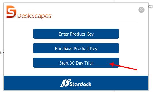 Окно выбора варианта установки программы DeskScapes 8