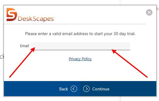 Окно активации программы DeskScapes 8