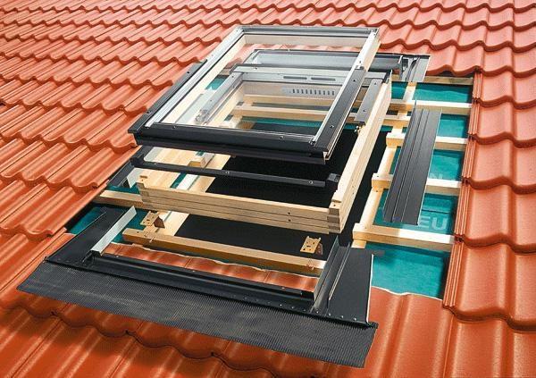 Очерёдность монтажа элементов мансардного окна
