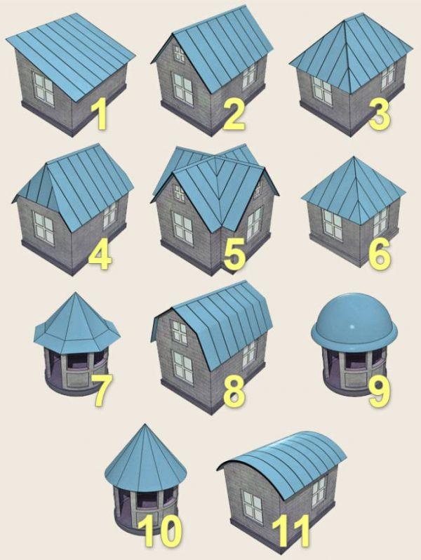 Виды многоскатных крыш