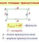 Формула для вычисления площади прямоугольника