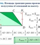 Формулы для вычисления площади трапеции