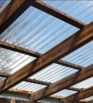 Прозрачная крыша для гаража