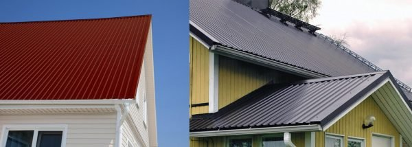 Покрытие крыш профнастилом