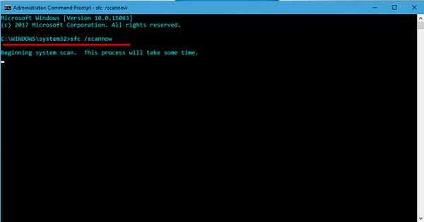 Окно системного процесса Microsoft Windows
