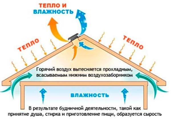 Схема вентиляции холодной крыши