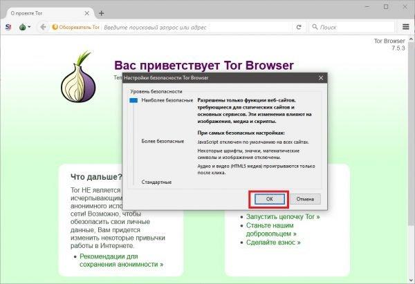 настройка tor browser окна