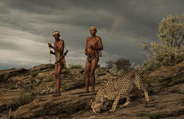африканские туземцы на охоте