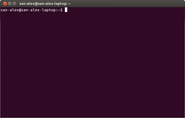Терминал команд Linux готов к работе