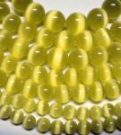 Бусы из цимофана лимонного цвета