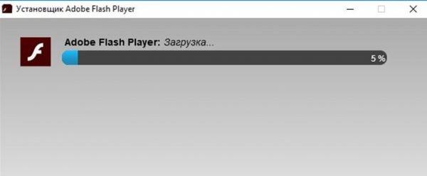 Загрузка Adobe Flash Player перед установкой