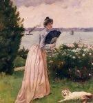 Картина Альфреда Стивенса «Женщина с веером»