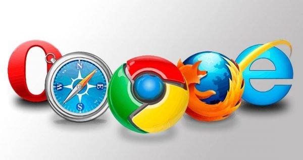 Логотипы разных браузеров