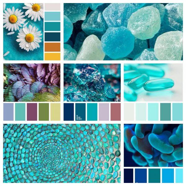 Сочетание бирюзы с другими цветами