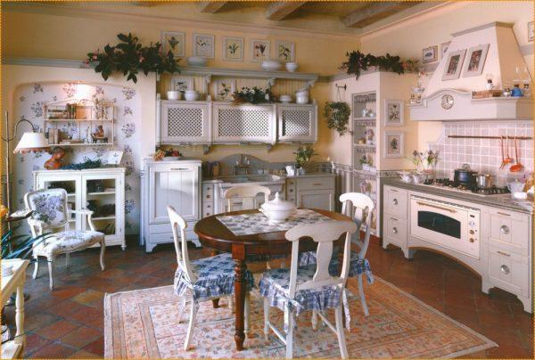 Декор в винтажной кухне