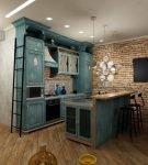 Грубая отделка стен на кухне в квартире