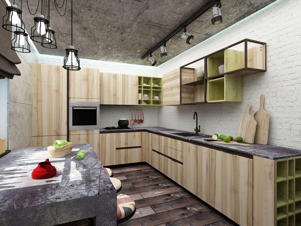 мужчины заводят стиль лофт в квартире на кухне фото калинника туман