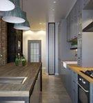 Кухня-гостиная в большой квартире