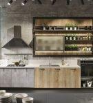 Гарнитур для большой и длинной кухни