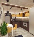 Комнатные растения в интерьере лофт на кухне