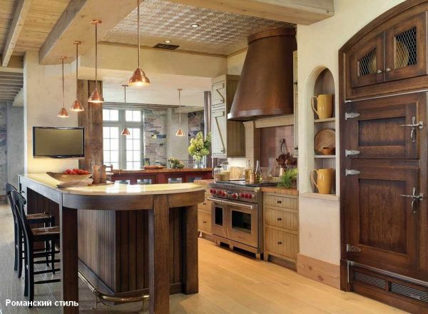 Мебель для кухни в романском стиле