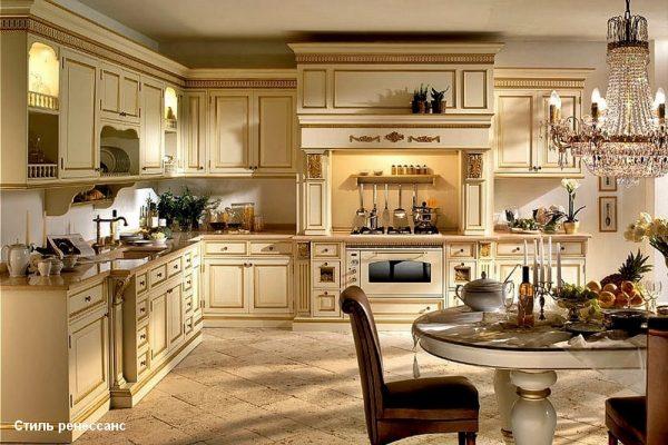 Кухонный гарнитур в стиле ренессанс