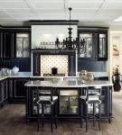 Готический интерьер в кухне