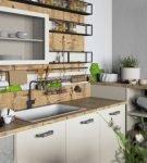 Лаконичная столешница на небольшой кухне