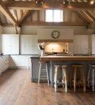 Кухня в эко стиле в частном доме