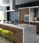 Узоры в интерьере кухни в стиле модерн