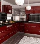 Яркий кухонный гарнитур в стиле модерн