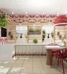 Красный цвет в интерьере этнической кухни