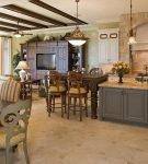 Интерьер в средиземноморском стиле для кухни