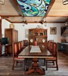 Большая кухня-гостиная в морском стиле