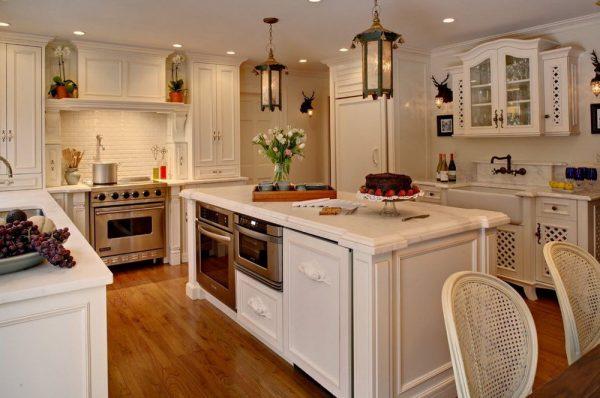 Стиль шебби-шик в кухонном интерьере