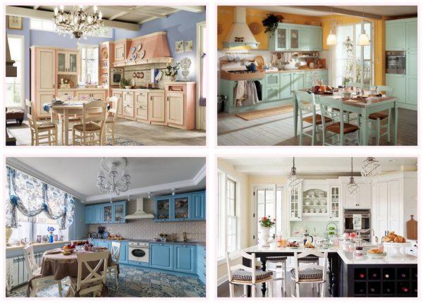 Разнообразие шебби-стиля в кухонном интерьере