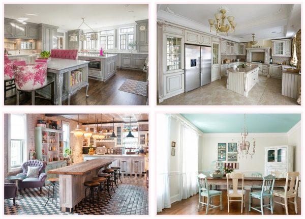 Универсальный шебби-стиль в кухонном интерьере