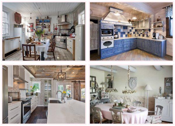 Кухонные интерьеры в потёртом стиле