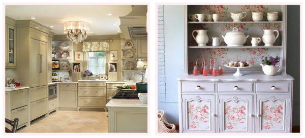 Фасады кухонной мебели в стиле шебби
