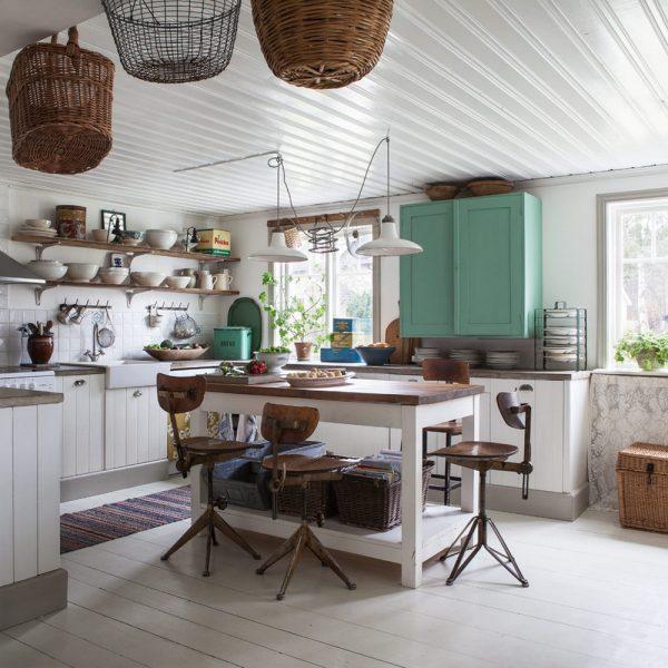 Деревянный пол в стиле шебби-шик