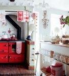 Маленькая кухня в шебби-стиле